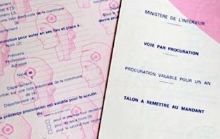 Procuration vote