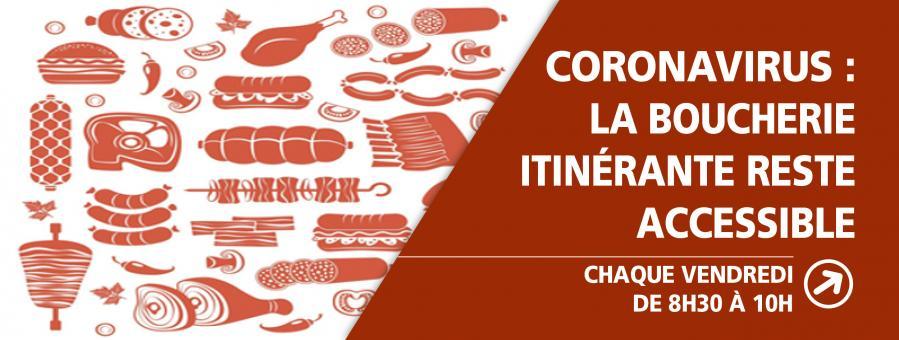 coronavirus : La boucherie itinérante reste accessible à Conteville