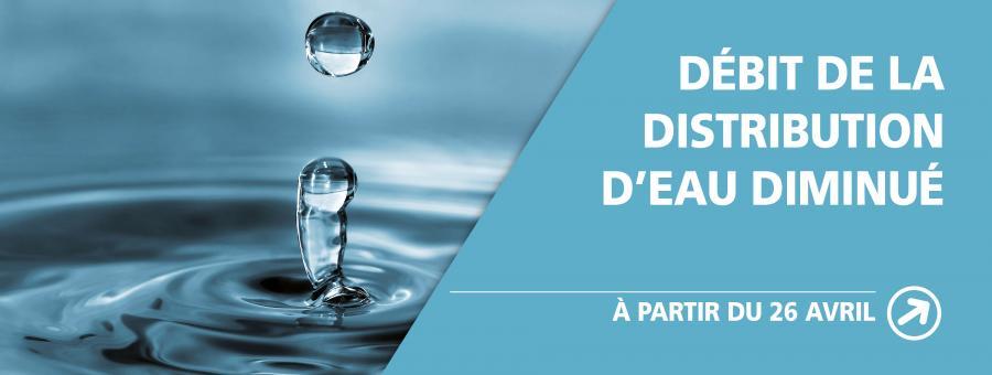 Diminution du débit de distribution d'eau