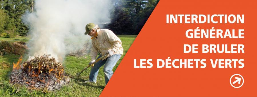 Arrêté prefectoral interdisant de brûler les déchets verts jusqu'au 10 septembre inclu