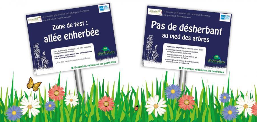 zones sensibles - Plan de désherbage à Conteville (27 EURE)